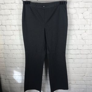 Chico's Dark Grey Knit Pull On Staight Leg Pants
